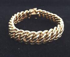 Bracelet or jaune 18 k (750/1000) maille Américaine