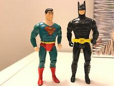 Vintage SUPERMAN and BATMAN FIGURE Lot by TOY BIZ 1989 DC COMICS