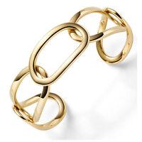 Breite Armspange Armband Armreif Armschmuck 585 Gold Gelbgold Ovale 21,5mm breit