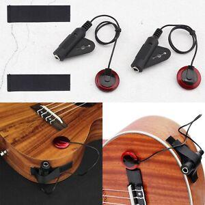 3er Set Gitarre Piezo-Tonabnehmer Pickup für Akustik Gitarre Folk Gitarre,