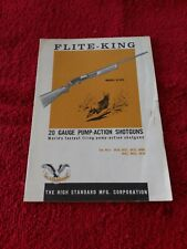 Factory Original Hi Standard Flight King 20ga Shotgun Instruction Owners Manual