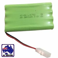 1pc Rechargeable Battery Pack Ni-Mh AA 2800mAh 9.6V W/ L6.2-2P Plug EYBA51622