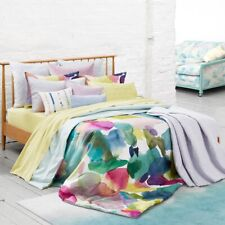 Bluebellgray Rothesay Water-Color 3-Piece Cotton Duvet Cover Set, Queen