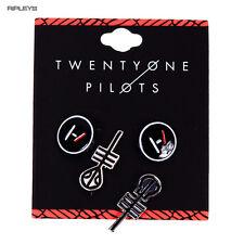 Official 21 Twenty One Pilots EARRINGS Pierced Set 2 Pack Clique Gift