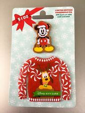 Disney Christmas Mickey Limited Edition of 2650 Gingerbread Gift Card Pin & Card