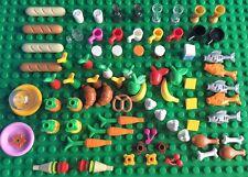 Lego Food Friends City Banana Carrot Fish Pumpkin Cones Bread Cherry Pretzel Cup