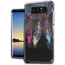 For Samsung Galaxy NOTE 8 - Dream Catcher Feather Hybrid Rubber Protector Case