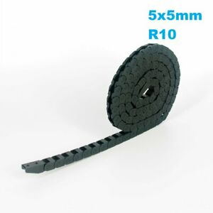 5x5mm R10 Nylon Energy Drag Chain Cable Wire Carrier CNC Router 3D Printer Mill