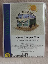 MOUSELOFT STITCHLETS CROSS STITCH KIT ~ GREEN CAMPER VAN ~ NEW