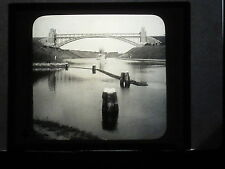 VINTAGE COLLECTIBLE GLASS PICTURE NEGATIVE  Canal connects Baltic & North Seas