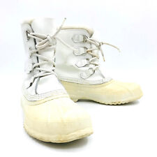 Sorel White Winter Snow Boot Removable Liner Womens Size 10