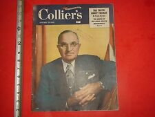JK314  1949 Colliers Magazine Truman American Flag Watch Health Lucky Strike