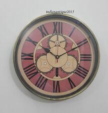 Antique Look Wall Clock Old Town Clocks Repair Home De core Gift Item