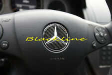For Mercedes Carbon Steering Wheel Emblem Decal A C E CLA SLK ML Class 63 45 AMG