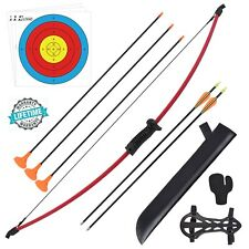 New listing 10LBS 36.5Inch Archery Recurve Bow & 5Pcs arrow set For Adults Training Practice