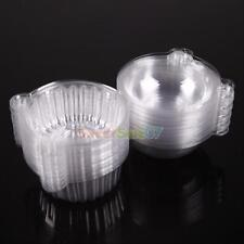 50 Clear Plastic Single Cupcake Muffin Holders Cake Cases Boxe Cups Pods Party