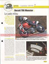 DUCATI 796 Monster 2010 Joe Bar Team Fiche Moto #001874