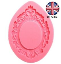 Teardrop Oval Frame Silicone Mould, Cake Icing Decoration, Photo Picture Mirror