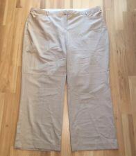 Lane Bryant 26 Light Tan Slacks Pants Flat Front Pockets NWOT Career Lightweight