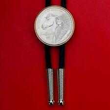 US 2012 Native American Sacagawea Dollar BU Coin Bolo Tie NEW - Horse The Routes