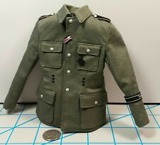DID Alois WWII German MG Gunner Tunic 1/6 Toys Shoulder Boards n Metal 3R