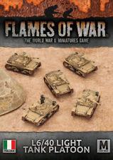 Flames of War Nuevo Y En Caja italiano L6/40 Luz Tank Platoon IBX17