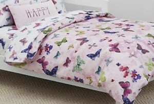 NEW Pink Pottery Barn Kids Adrian Butterfly Organic Full-Queen Duvet Cover- $140