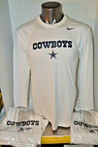 New Dallas Cowboys NFL Equipment Nike Training Dri-Fit Shirt Long Sleeve  XL-3XL