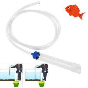 Aquarium Gravel Cleaner Syphon Vacuum Water Changer Pump Siphon Hose