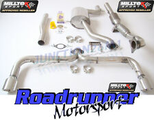 "Milltek Scirocco R Sistema de escape Turbo atrás 3"" Race Cat 200 celdas no res Trasero"