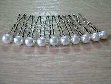 lot 10 Pics accessoires cheveux Mariée/Mariage/Soirée couleur Blanc perle nacrée