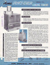 VINTAGE AD SHEET #3102 - 1950s ACME FLOW COLD AIR CONDITIOINER