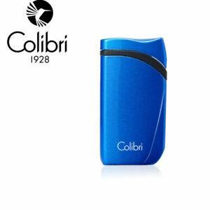 NEW Colibri Falcon Angled Single Jet Flame Lighter - Metallic Blue