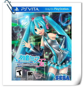 PSV HATSUNE MIKU: PROJECT DIVA F 2ND JAPANESE SONY PlayStation VITA Music SEGA