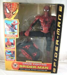 Marvel ELECTRONIC CRIME FIGHTING SPIDER-MAN with Action Controller NIB ToyBiz