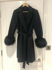 Black Zara Coat With Fur Cuffs