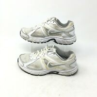 Nike Dart 9 Running Shoes Athletic Sneakers Lace Up Mesh Leather White Womens 6