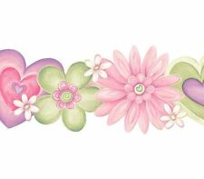 SALE....15 feet of Pink, Purple and Green Laser Cut Floral Wall Border GU92183B