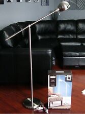 "ALLEN & ROTH 56"" MODERN CONTEMPORARY Brushed Nickel FLOOR LAMP & Swiveling Shade"