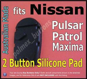 fits Nissan Patrol Pulsar Maxima 2 Button remote-Repair Silicone key buttons Pad