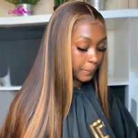 Black Women Colored Hair Wigs Pre Plucked Lace Front Remy Frontal Average Size
