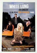 Rare flyer WHITE LUNG Paris Point Ephémère 12/05/2014 * Not a Ticket