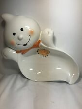 Hallmark Halloween Ghost Ceramic Candy Dish