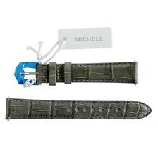 NEW Michele 16mm Grey Alligator Watch Band Strap Genuine Alligator