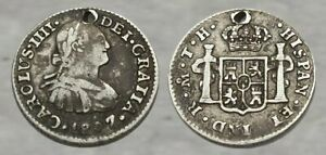 ☆ AUTHENTIC !! ☆ Colonial Era SILVER Coin !! ☆ Sharp Details !!