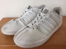 Retro K Swiss Classic White Varsity Sneaker Lace Up Tennis Shoes Mens 6M 39