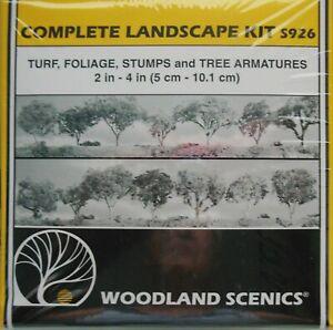 COMPLETE LANDSCAPING KIT -WOODLAND SCENICS TURF, FOOIAGE, STUMPS TREE ARMATURES