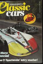 THOROUGHBRED & CLASSIC CARS, JUL  84 feat AC ACE, MORGAN PLUS 8 & 4, PORSCHE 908