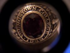 VINTAGE 1949 HERFF JONES 10K GOLD YOUNGSTOWN COLLEGE CLASS RING SIZE SIZE 9