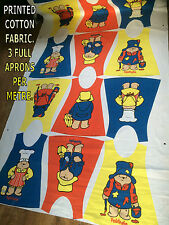 1M PADDINGTON BEAR CHILDREN PRINTED COTTON APRON TABARD. GIRL BOY NURSERY CRAFT